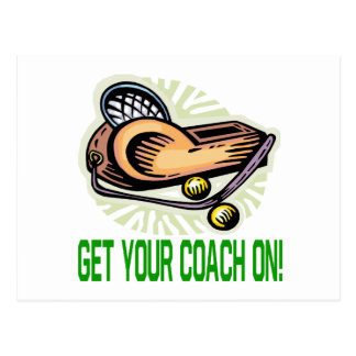 Get Your Coach On Postcard