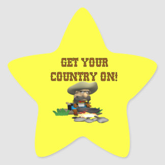 Get Your Country On 3 Star Sticker