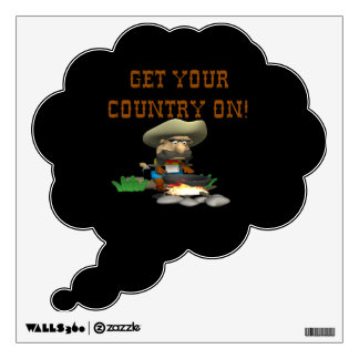 Get Your Country On 3 Wall Decal