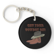 Get Your Cowboy On Keychain