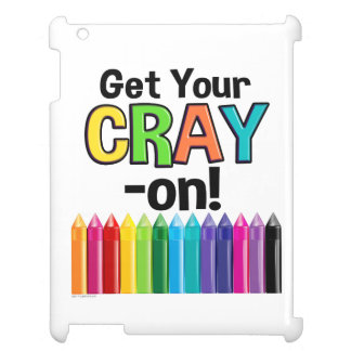 Get your Cray On Rainbow Crazy Crayon Art Teacher Case For The iPad 2 3 4