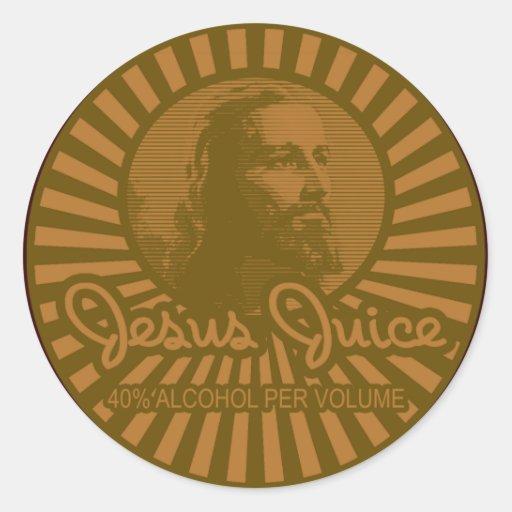 Get Your Crunk On Jesus Juice Style Round Sticker