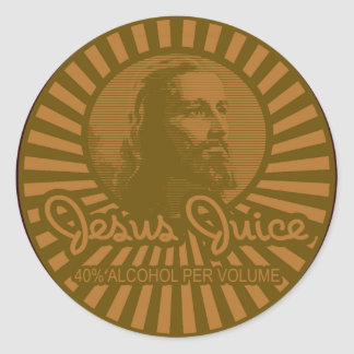 Get Your Crunk On Jesus Juice Style Classic Round Sticker