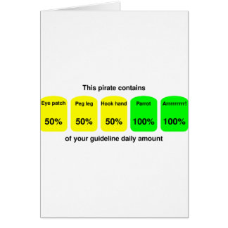 Get your daily amount of pirate goodness! card