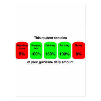 Get your daily amount of student goodness! postcard