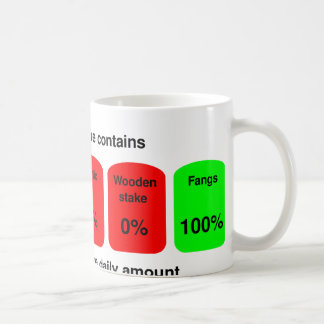 Get your daily amount of vampire goodness! coffee mug