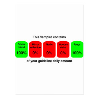 Get your daily amount of vampire goodness! postcard