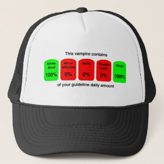 Get your daily amount of vampire goodness! trucker hat