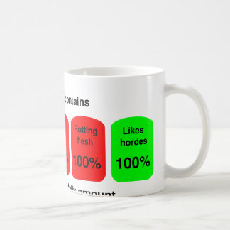 Get your daily amount of zombie goodness! coffee mug