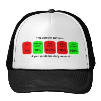 Get your daily amount of zombie goodness! trucker hat