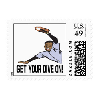 Get Your Dive On Postage Stamp