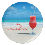 Get Your Drink On Dinner Plate