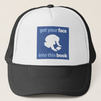 Get your Face into this book Trucker Hat