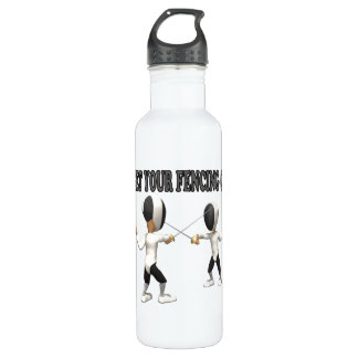 Get Your Fencing On Water Bottle