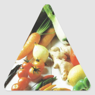 Get your five a day here! triangle sticker