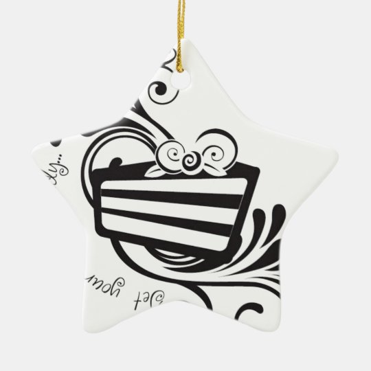Get Your Forks Ready!  Designs for the cake lover! Ceramic Ornament