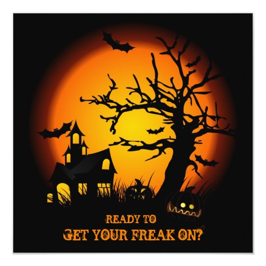 Get your freak on - Halloween Party Invites