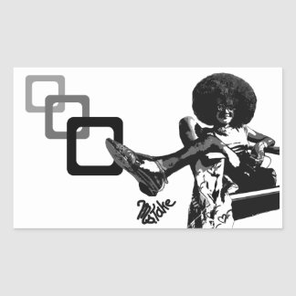 Get Your Fro On! Graffiti by Ms.Take Rectangular Sticker