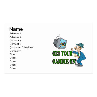 Get Your Gamble On 2 Business Card