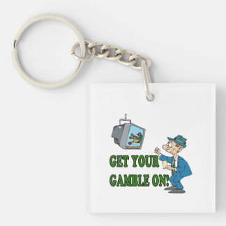 Get Your Gamble On 2 Keychain