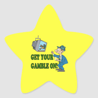 Get Your Gamble On 2 Star Sticker