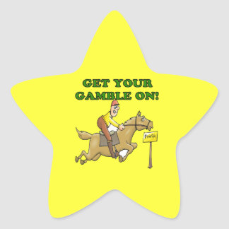 Get Your Gamble On Star Stickers