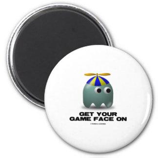 Get Your Game Face On Geek Fridge Magnet