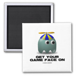 Get Your Game Face On Geek Refrigerator Magnet