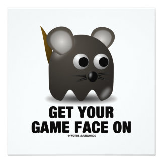 Get Your Game Face On (Mouse) Card