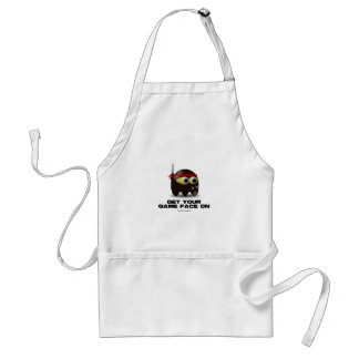 Get Your Game Face On (Ninja) Adult Apron