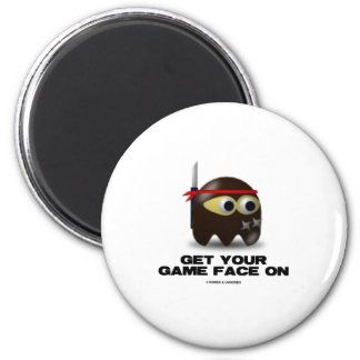 Get Your Game Face On (Ninja) Refrigerator Magnets