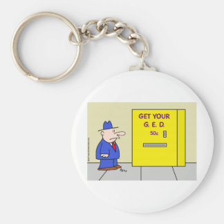 get your ged vending machine keychain