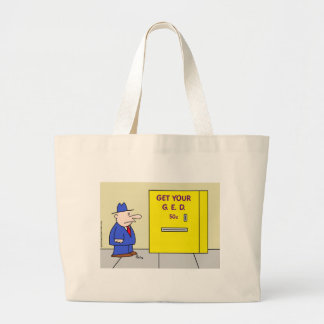 get your ged vending machine large tote bag