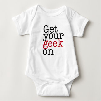 Get your geek on baby bodysuit