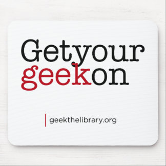 Get your geek on mouse pad