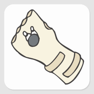 Get Your Glove On Square Sticker