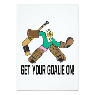 Get Your Goalie On 5x7 Paper Invitation Card