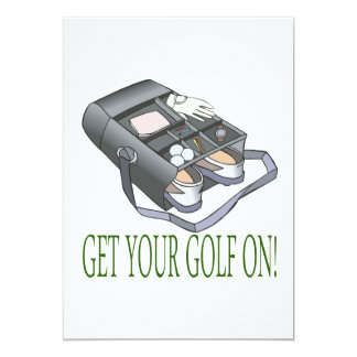 Get Your Golf On 5x7 Paper Invitation Card