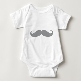 Get Your Grey Stache on Jack Baby Bodysuit