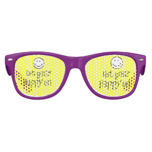 2c6a1302a5 Get your happy on Quote Kids Sunglasses