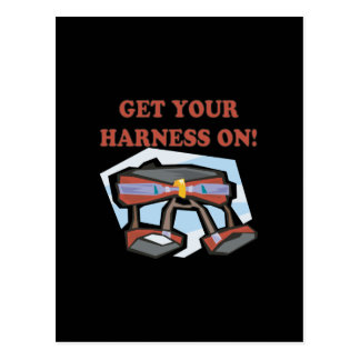 Get Your Harness On Postcard