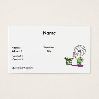 get your head in the game volleyball business card