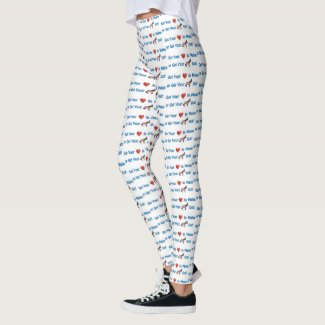 Get Your Heart In Maine or Get Your Donkey Out Leggings