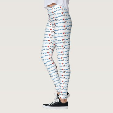 Beach Themed Get Your Heart In Maine or Get Your Donkey Out Leggings