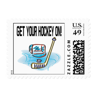 Get Your Hockey On Postage Stamp