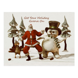 Get Your Holiday Groove On Postcards