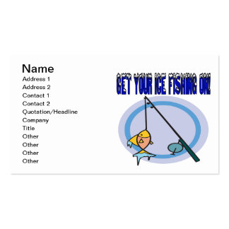 Get Your Ice Fishing On Business Cards