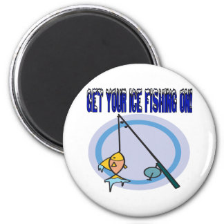 Get Your Ice Fishing On Magnet
