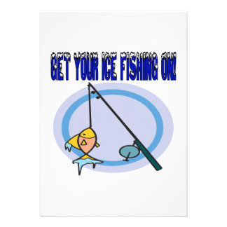Get Your Ice Fishing On Personalized Announcements