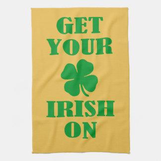 GET YOUR IRISH ON HAND TOWEL
